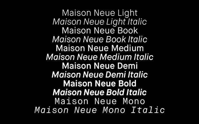 Maison Neue | Slanted - Typo Weblog und Magazin