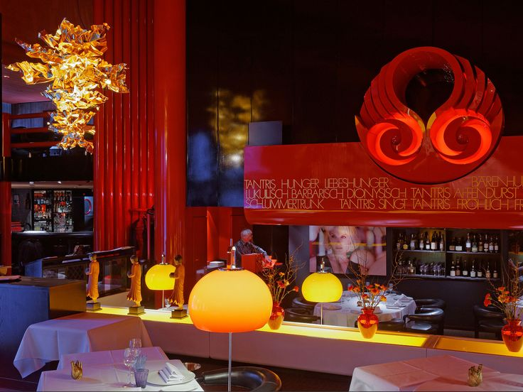 """Tantris, Munich, 2013     The munich gourmet restaurant """"Tantris"""" complemented the interior design by an exclusive light object: A custom tailored Lichtenfest.  dimensios: 2,30 m (height) and 1,80 m (width)  in cooperation with Danilo Silvestrin        Photography: Andreas J. Focke, Munich"""