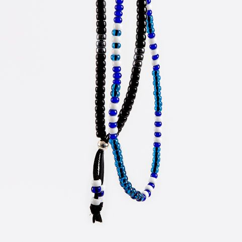 Popular with the Japanese brands we stock such as Neighborhood and Unrivaled, Native American style beads have become integral to the Japanese high end street style. Attracted by the crafted elements of beaded necklaces their inherent simplicity is both beautiful and easy to wear. A staple for every mans wardrobe. Here's to the Lizard King.