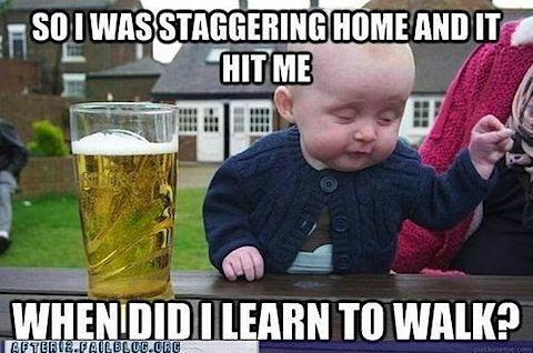 Drunk baby meme