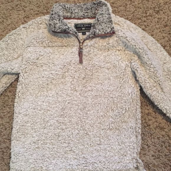 True Grit Pullover - Putty (XS) TRADE ONLY I received this as a Christmas gift but I'm in search of a light blue one instead - extra small as well. I've only worn it twice so if anyone has one in light blue and would like to trade, let me know! True Grit Jackets & Coats