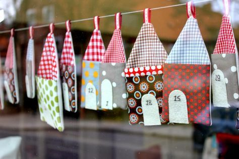 Pocket houses advent calendar