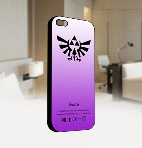 Legend of Zelda iForce Purple - For IPhone 5 Black Case Cover