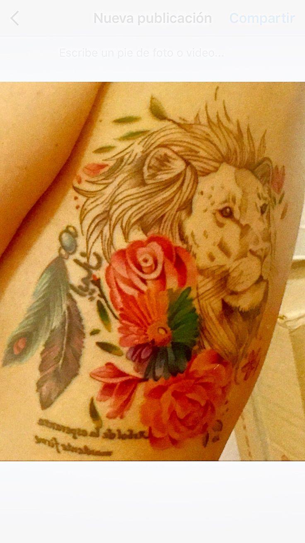 Más hace un León callado que un perro ladrando. #Tattoo #Ink #Lion #Flowers #Pride #Tatuaje #León #BudaInk  #GirlsWithInk #Flores 🦁❤️🌈🌺🍂🍃