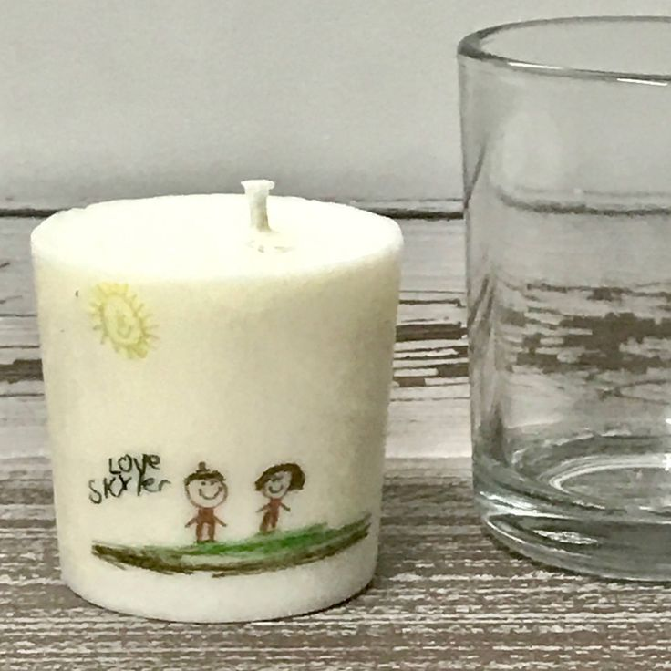 Child Drawing Gift, Personalized Child Drawing, Personalized Candles, Kids Drawing Gift, Your Childs Drawing, Capture The Moment, Mom Gift by messagecandle on Etsy