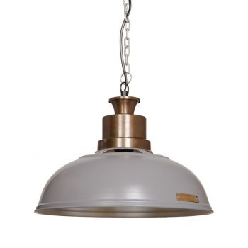 VERDA 36cm lampa wisząca Light Grey loft light