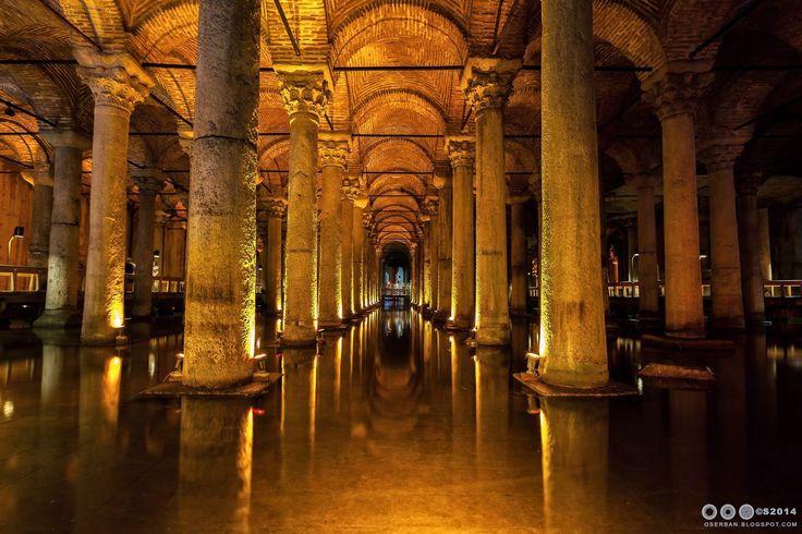 Octavian Serban: Basilica Cistern , Istanbul 6th Century AD