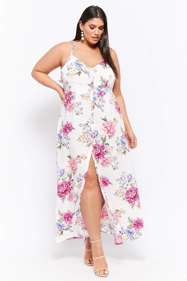 46a60e4c2e2 Forever 21 Plus Size Floral Button-Front Maxi Dress  affiliate ...