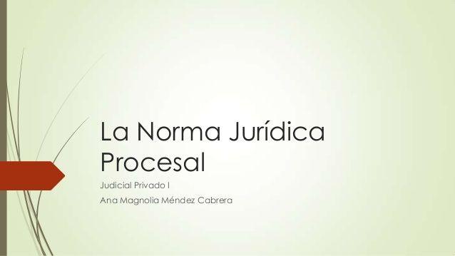 La norma jurídica procesal