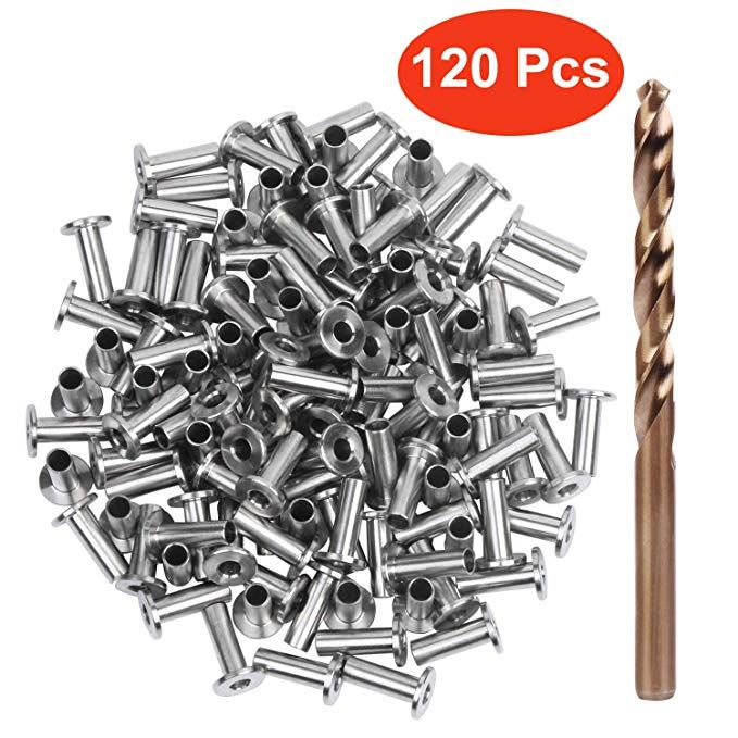 Blika 65pack Stainless Steel Protector Sleeves For 1 8 5 32 Or 3 16 Cable Railing T316 Marine Grade Come With A Free Dril Cable Railing Railing Drill Bits