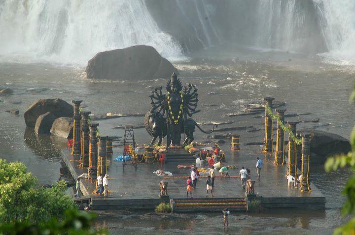 Maa-Durga-Temple-Near-Waterfall
