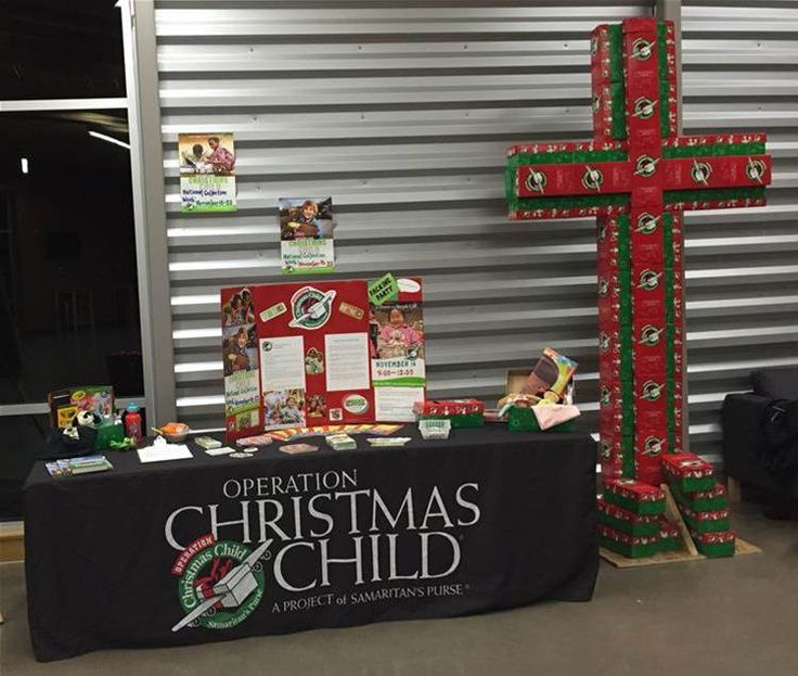 Image result for operation christmas child displays