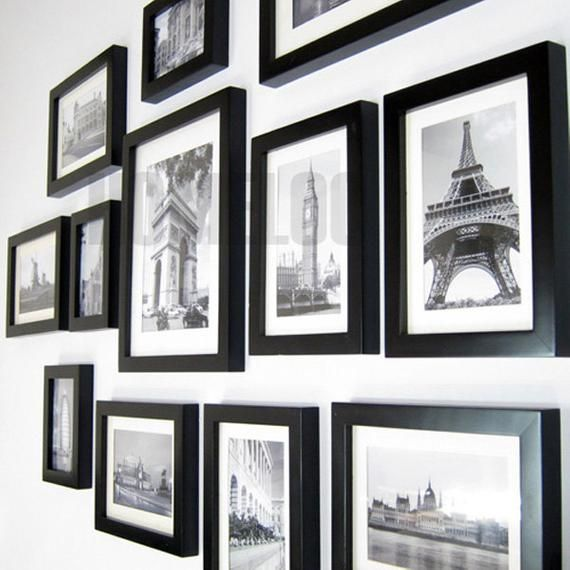 Photo Picture Wall Frame Set Gallery Modern 15 Etsy In 2020 Frames On Wall Wall Frame Set Picture Frame Wall