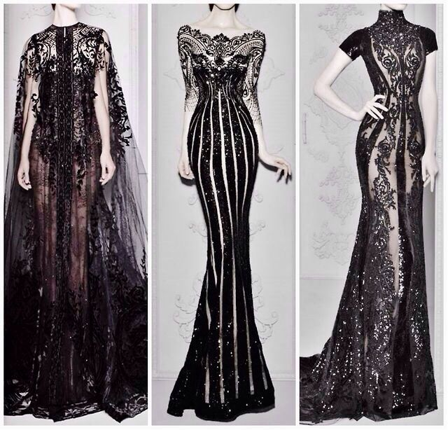 Gorgeous gothic black lace dresses #fashion Reminds me of Tim Burton