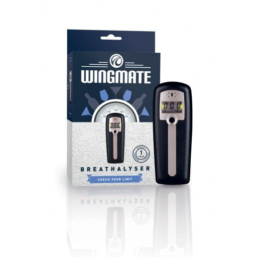The Andatech Wingmate breathalyser is a very simple to use, hand-held alcohol tester. Without the need for mouthpieces, the Wingmate features a fast microcomputer-controlled automatic test sequence with a 2 decimal LCD display and audio cues.  Small, light, convenient and easy to use. This mini gadget slips into your pocket so you can keep it with you while you're out. No mouthpieces required - just switch it on, blow across the sensor and keep your options open.