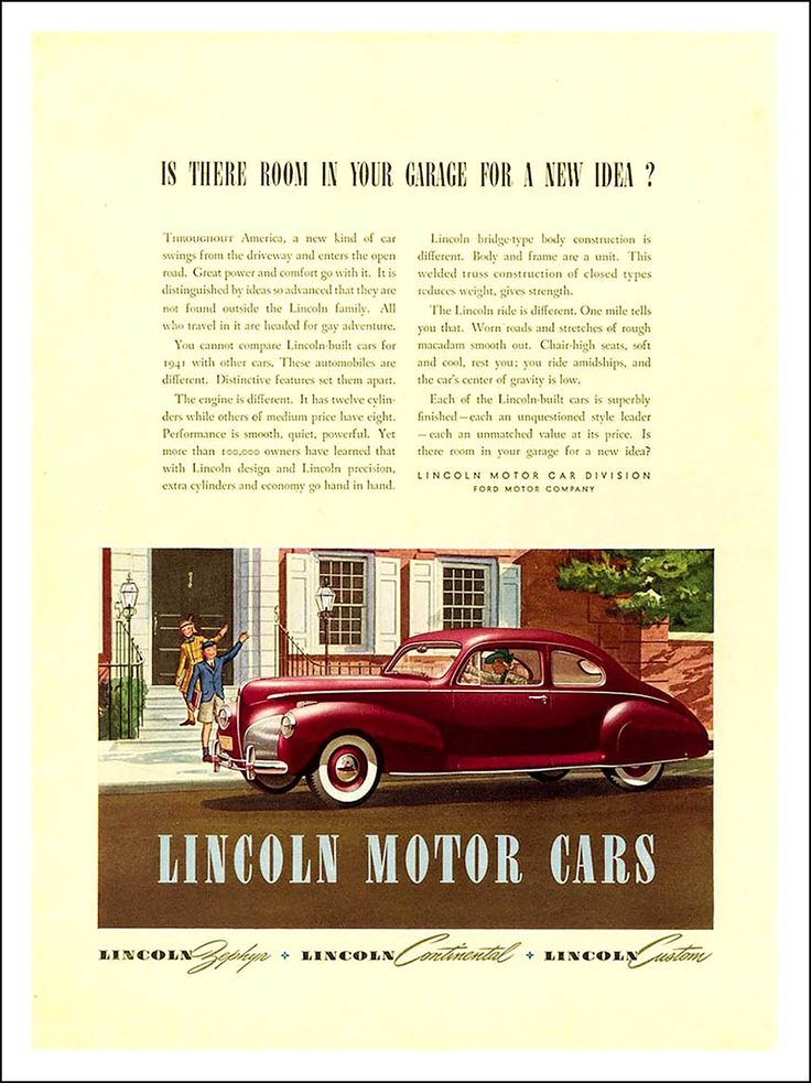 298 best Classic Marques - Lincoln images on Pinterest   Vintage ...