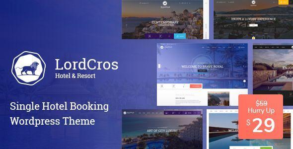 Lordcros Hotel Booking Wordpress Theme Wordpress Theme Wordpress Free Wordpress Themes