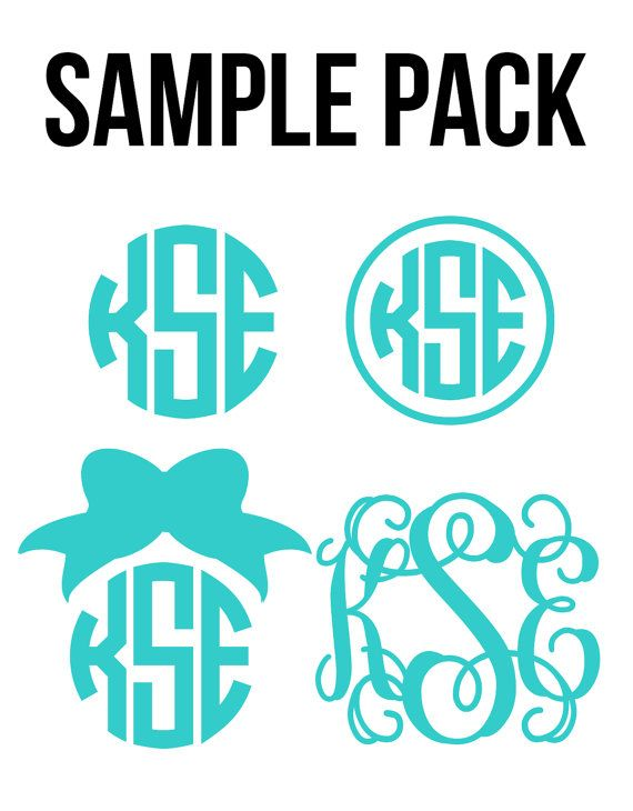 Monogram Sample Pack 4 Choices by PrettyLettersShop on Etsy, $14.00: pinterest.com/pin/117938083967144386