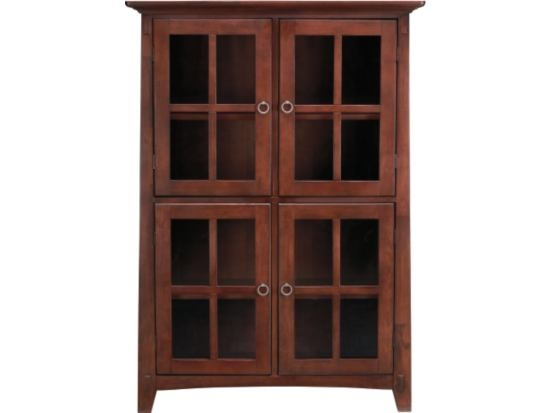 Buy Arts U0026 Crafts Chocolate Bookcase With Doors Bookcases In Columbus USA U2014  From Value City Furniture, Company In Catalog Allbiz!