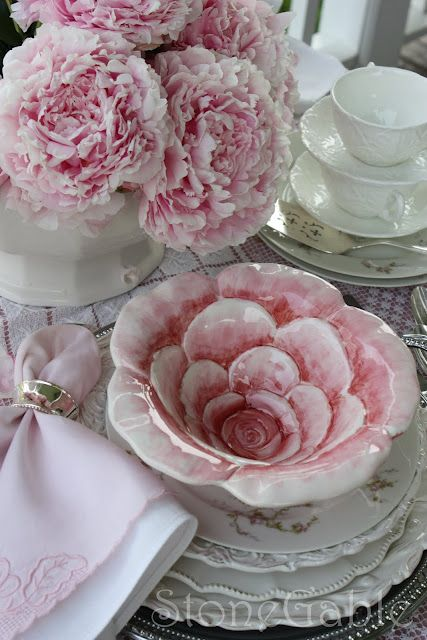 Pink Peony Tablescape