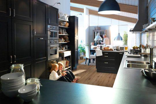 168 best inspiration cuisine images on pinterest deco for Cuisine noir mat ikea