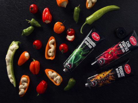 Fylte grønnsaker med Smaksrik smøreost fra Kavli