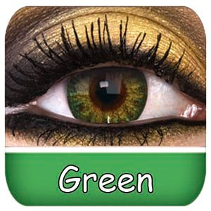 """Natural Green Contact Lenses (from this company """"sparking green"""" is the best one.)"""