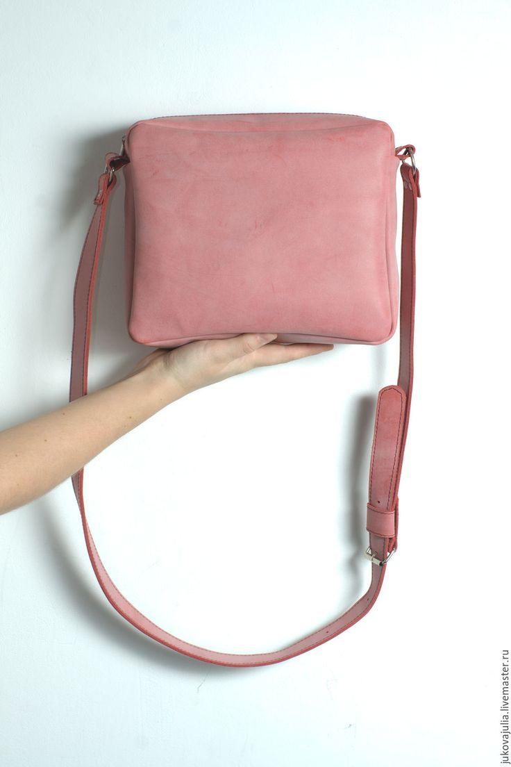 Купить Сумка из натуральной кожи на весну лето пудровая зефирка сакура 30,16 - сумка