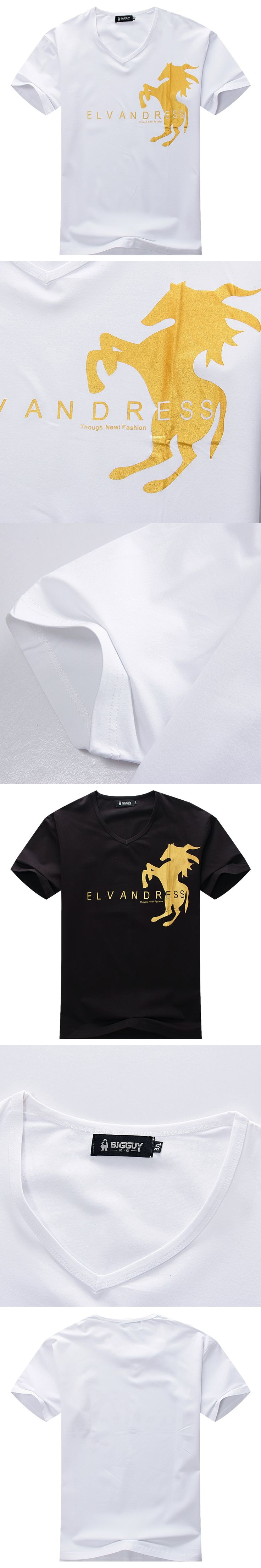 BIG SALE 2017 New Hot Plus size 8XL 7XL 6XL 5XL 4XL Mens T Shirt Men Summer Fashion Slim V-Neck Short Sleeve T Shirts Men cotton
