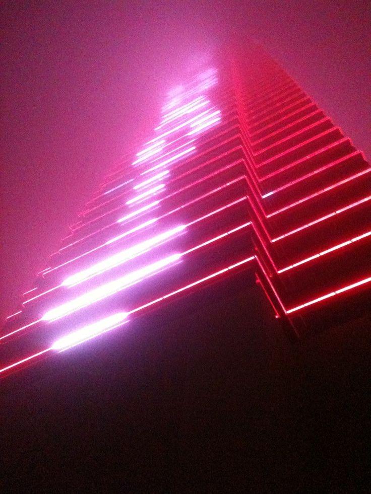 Atlantic City In The Fog Neon Noir Retro Waves Neon