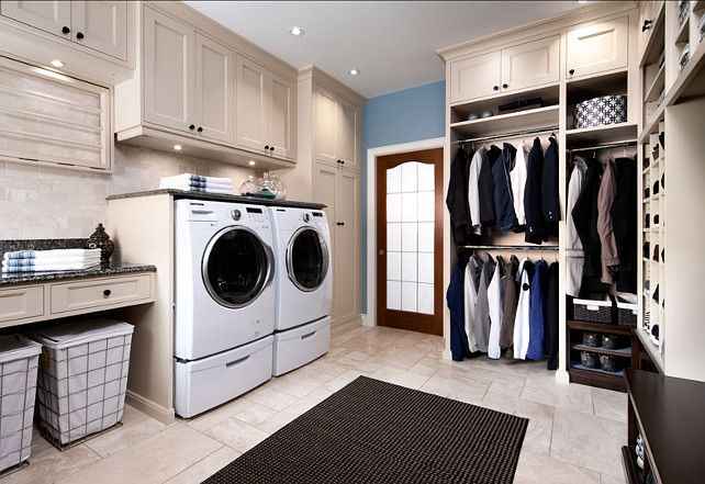 Laundry Room - Love the space to hang + I want a folding table!