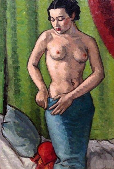 John Lyman (1886-1967) Le sarong vert, vers 1935