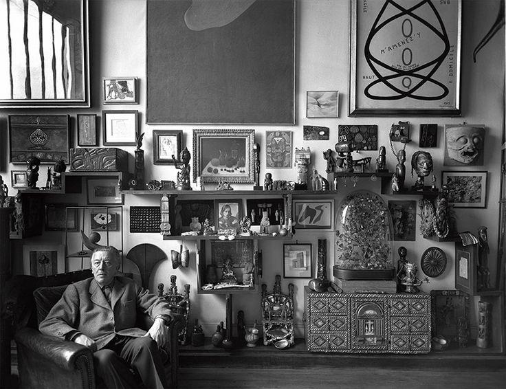 André Breton chez lui, 42, rue Fontaine, Paris, 1956