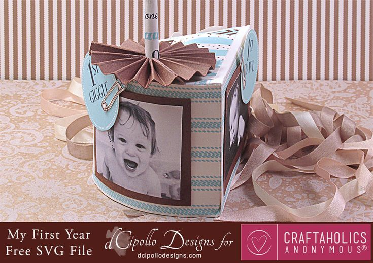 Craftaholics Anonymous® | My First Year Photo Cake