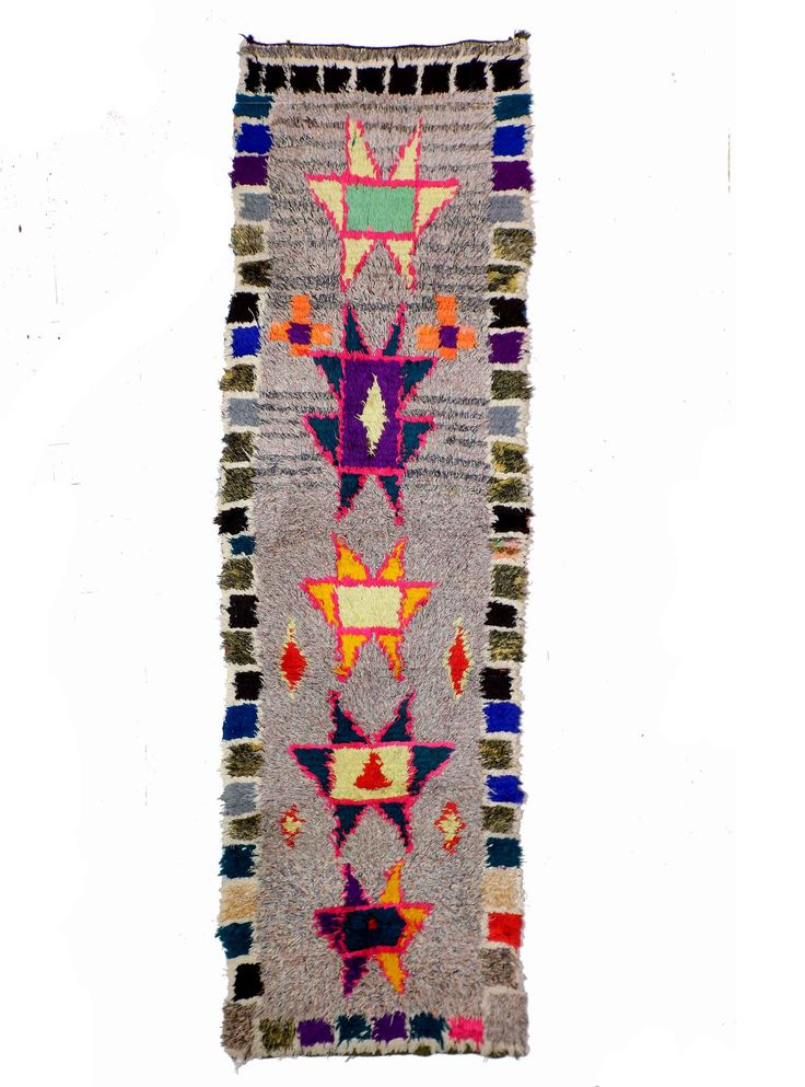 Moroccan Boucherouite runner rug from kira-cph.com