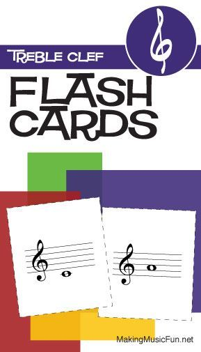 treble clef flash cards pdf