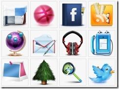 25 Links com Ícones Sociais