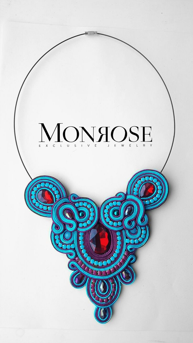 Soutache necklace by Monrose Jewelry