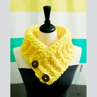 Work up this chunky cheerful crochet cowl using a cool nontraditional technique to create a cabled look!