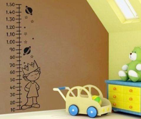 vinilo decorativo regla medidor de estatura para chicos
