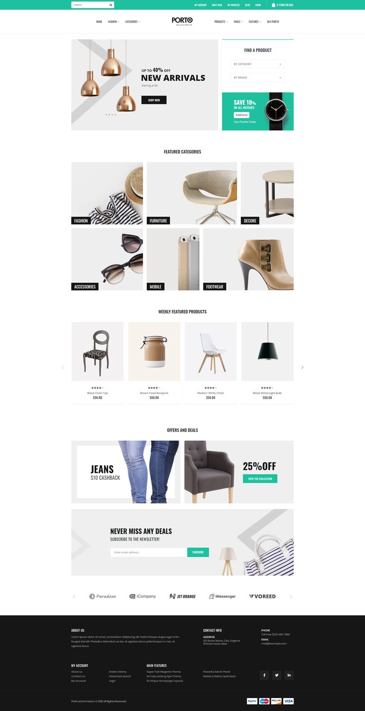 Porto — HTML Template Stylelib in 2020 Html