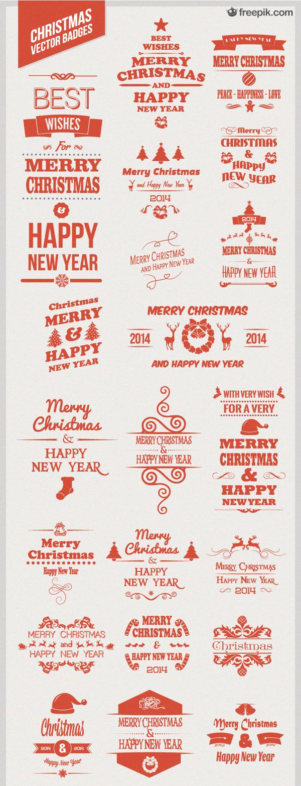 30 Free Christmas Vector Badges
