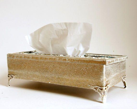 Kleenex Box Cover Vintage Tissue Holder French Country