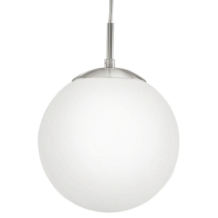 Eglo (93197) Rondo 1 Small LED Glass Globe Pendant Light