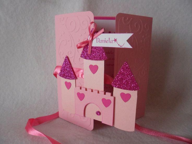 Invitación de Cumpleaños Infantil. #Castillo de la Princesa. Temática…