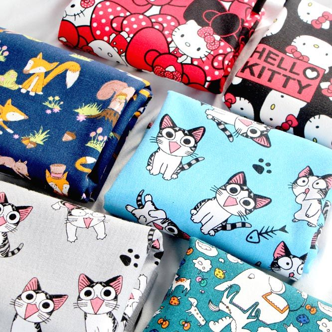 Cheap Fabric, Buy Directly from China Suppliers:cartoon cat cotton canvas fabric for sofa tablecloths curtain cloth diy patchwork craft material upholstery fabric tissu textile