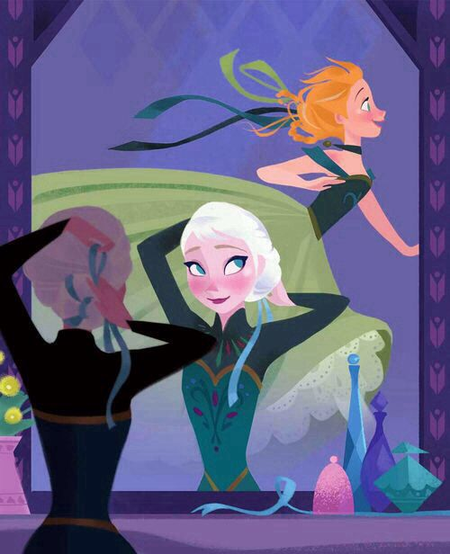 Frozen sisters Elsa and Anna
