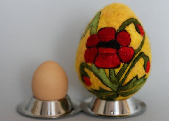Easter egg felted easter eggs. Easter decoration. by WoolyThinker