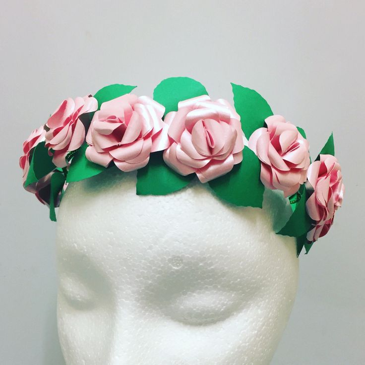 A personal favourite from my Etsy shop https://www.etsy.com/uk/listing/526291637/flower-crown-paper-flower-crown-wedding