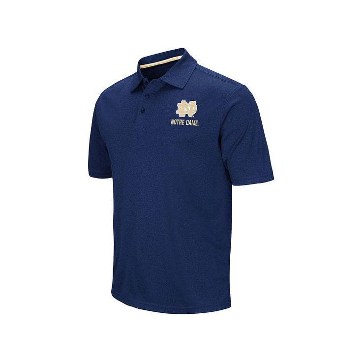 Men's Campus Heritage Notre Dame Fighting Irish Heathered Polo, Size: Medium, Blue (Navy)